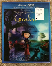 Coraline (Blu-ray/DVD, 2011, 2-Disc Set, 3D)