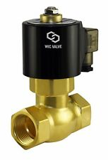 "1"" Inch Brass Hot Water Steam High Pressure Electric Solenoid Valve NC 220V AC"