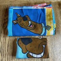 Vintage Scooby Doo Flat Sheet Standard Pillow Case 1999 Hanna Barbera Dan River