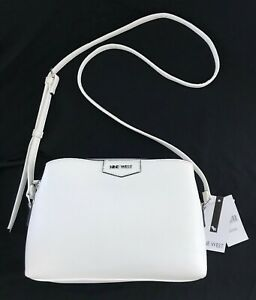 NINE WEST TIFFONY MINI, CROSSBODY PURSE HANDBAG, OPTIC WHITE, NWT