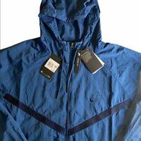 Nike Windrunner Jacket Full Zip Loose Fit Blue CJ4299-432 Men Size Med NEW!!!!!!