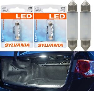 Sylvania Premium LED Light 6411 White 6000K Two Bulb Trunk Cargo Replace Upgrade
