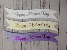 10 HAPPY MOTHERS DAY SENTIMENT GREETING BANNER CARD MAKING CRAFT EMBELLISHMENTS