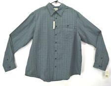 New Haggar Mens 2XLT Tall Polyester Long Sleeve Button Up Dress Shirt Black/Blue
