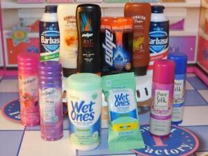 Zuru Mini Brands Series 1 Lot Skintimate Pure Silk Wet Ones Barbasol Edge Tropic