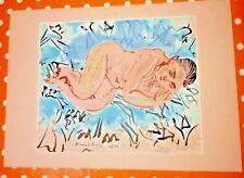 Raoul Dufy - NU COUCHÉ Á LA DRAPERIE BLEU - 1930 - on Arches -Nude Erotic-RARE