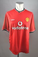 Manchester United Trikot 2000-2001 Gr. L Umbro rot Home Jersey vodafone vintage