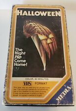 Halloween VHS 1978 TESTED PLAYS Media-Home Entertainment RARE