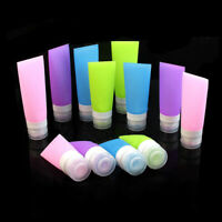 Empty Silicone Travel Bottle Lotion Shampoo Cosmetic Tube Container Portable US