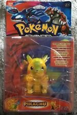 Pikachu Bandai Figure 2004 Pokemon Advanced Lights Up RARE SEALED NEW