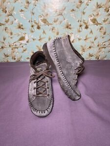 Size 7 | Women's Chukka Boot SKECHERS Brown Leather Biker Lineage Relaxed Fit