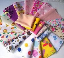 Bambini PATCHWORK CRAFT TESSUTO materiale scampoli Girl