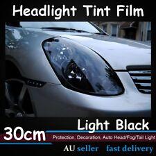 120cm x 30cm Light Black Car Headlight Tint Tail Light Fog Lamp Vinyl Smoke Film