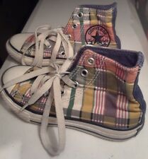 CONVERSE Child's Shoes Sneakers Kids Chuck Taylor All Star High Plaid Sz 11 EUC!