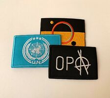 UN, Mars, OPA Flags Iron-On Patch Set