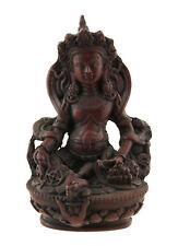 Statue tibetaine Jambhala Vaishravana Dieu des Richesses 12cm Bordeaux 25536