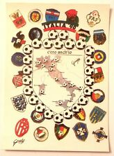 Cartolina Italia 90 - C'Ero Anch'Io Stemma Italia Stivale Luoghi