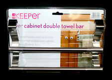 New It'S A Keeper Over Cabinet Double Towel Bar Stainless Steel