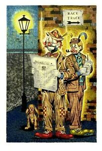 """George Crionas-""""The Gents""""-Limited Edition Lithograph/Paper/Hand Signed/LOA"""