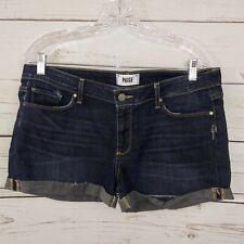 Paige Shorts Jimmy Jimmy Short Size 31 Roll Cuff Dark Blue Distressed C73