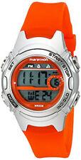 Timex Mujer maratón Digital Tamaño Mediano Naranja/Plata Reloj Correa de resina TW5K968