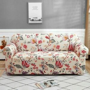 Floral Printing Stretch Sofa Cover Furniture Protector Slipcover For Living Room