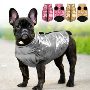 Dog Puffer Coat for Small Dogs Waterproof Winter Clothes Jacket Jack Russell Pug