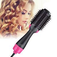 Professional One Step Hair Dryer Volumizer Brush Straightening Curly Iron USplug