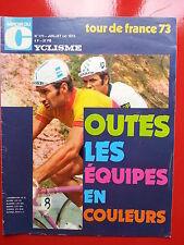 1973 miroir du cyclisme n°173 GUIDE DU TOUR DE FRANCE 73 LES EQUIPES EN COULEUR