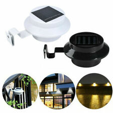 Outdoor LED Solar Powered Gutter Lights Garden Yard Wall Pathway Fence Lamp