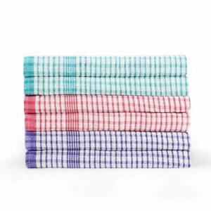 10x Wonderdry Tea Towels Quick Dry 100% Cotton Kitchen Cloth Bar Hotel Dishcloth