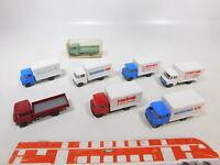 CA468-0,5# 8x Wiking 1:87/H0 Transporter MB T2: 271+Packfisch+Heins etc, s.g.