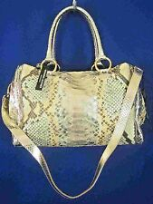 JENRIGO ITALY Metallic Python Skin Leather NEW Large Shoulder Tote