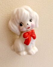 Miniature Porcelain Ceramic Puppy Dog Figurine - 1950's Japan