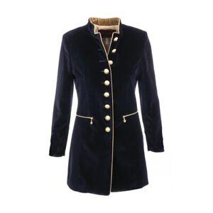 Welligogs Seville Velvet Coat Navy