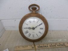 VINTAGE SPARTUS  electric wall clock Mid Century USA Made Woodgrain