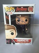 HAWKEYE FUNKO POP SIGNED BY JEREMY RENNER MARVEL AVENGERS AGE OF ULTRON