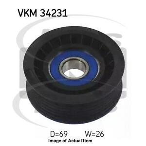 New Genuine SKF Poly V Ribbed Belt Deflection Guide Pulley VKM 34231 Top Quality