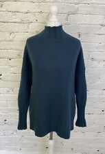 360 CASHMERE 100% Chunky Knit CASHMERE Ladies Jumper Medium M 12 UK - Green