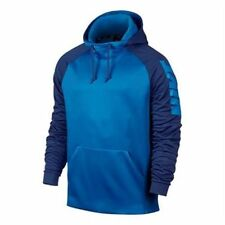 MEN'S NIKE THERMA FIT PULLOVER HOODIE DRI-FIT BLUE  800309 435 SIZE LARGE NWT
