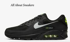 """Nike Air Max 90 """"Black/Volt/Light Smoke """" Men's Trainers Limited Stock All Sizes"""
