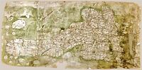 MAP ANTIQUE AFTER GOUGH 14TH CENTURY BRITAIN LARGE REPLICA POSTER PRINT PAM0507