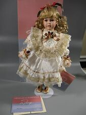 "William Tung Hand Crafted Porcelain Doll Justine 18-1/2"" With COA 26/1500"