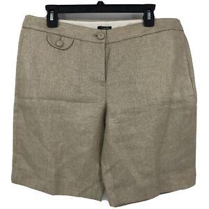 "Nwt's J.Crew Metallic Gold City Fit Shorts Sz 12 9"" Inseam Jcrew Holiday"
