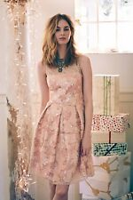 NWOT $298 Anthropologie EVA FRANCO Pink Sequin & Lace Sugarberry Dress, 8, USA
