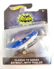 2016 Hot Wheels 1/50 Classic TV Series Batboat with Trailer Diecast Vehicle NEW