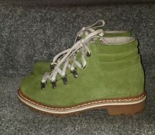 Stunning Womens Montelliana 1965 Ankle Suede Boots Green Vibram Size 38 UK 5