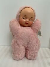 "Rushton Pink 10"" Rubber Face Baby Doll Stuffed Animal Vintage"