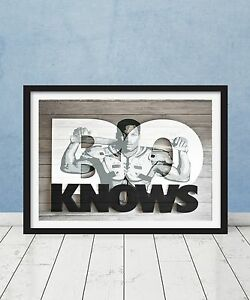 Bo Jackson Knows Baseball Football 80s Raiders Royals Nike Framed Poster Gift