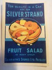 Etiquette allumette - SALADE DE FRUITS SILVER STRAND - Belgium - (31)